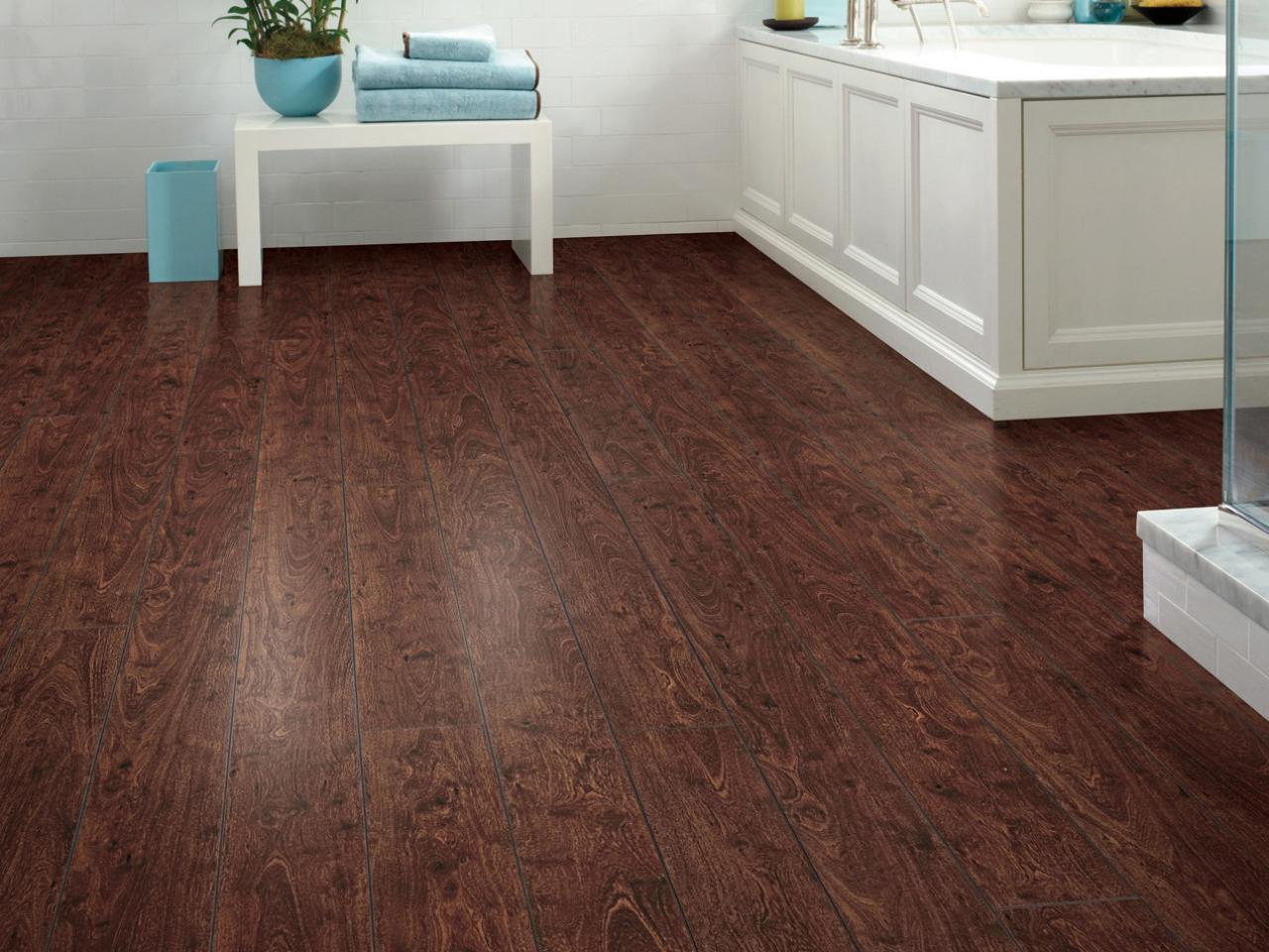 Laminate Or Wood Floors Bathroom With Dark Hardwood Floors