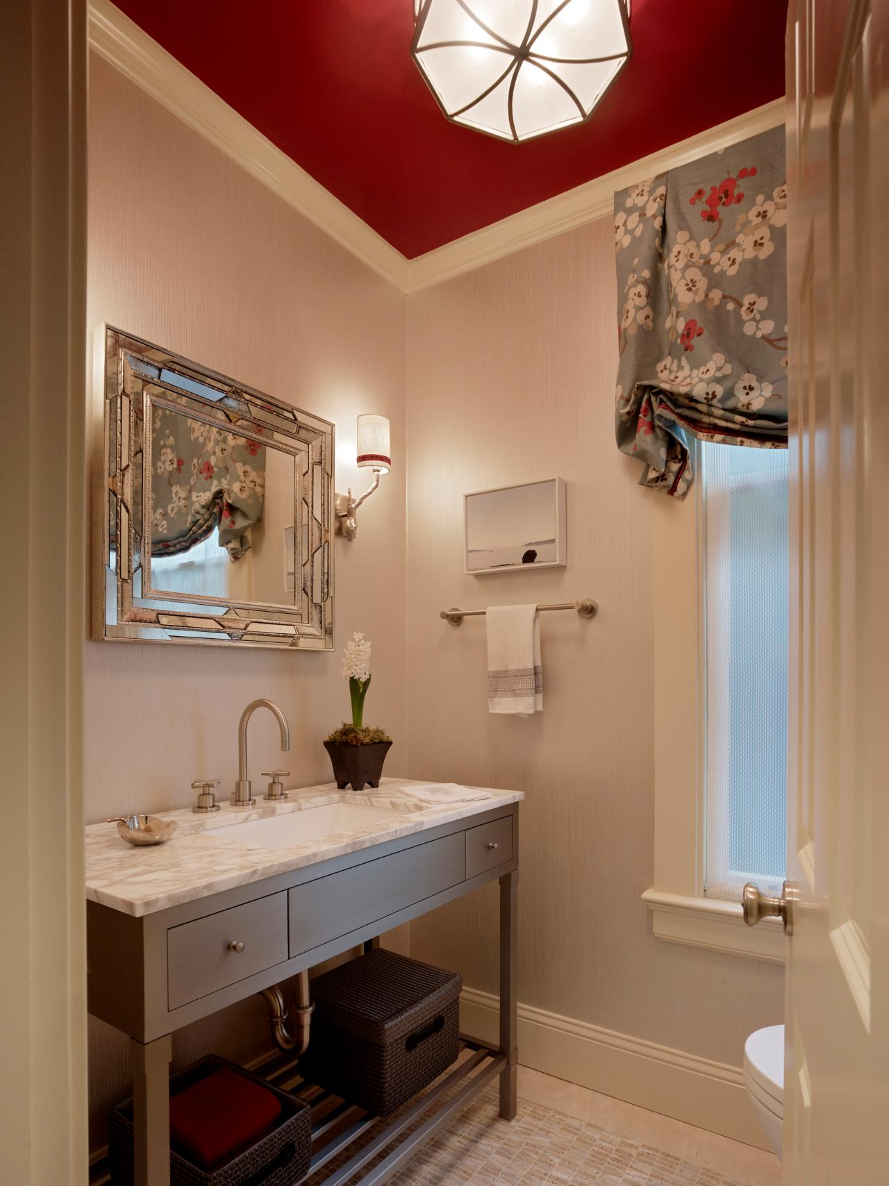 Merveilleux Wood Paneled Powder Room. This Bathroom, Designed ...