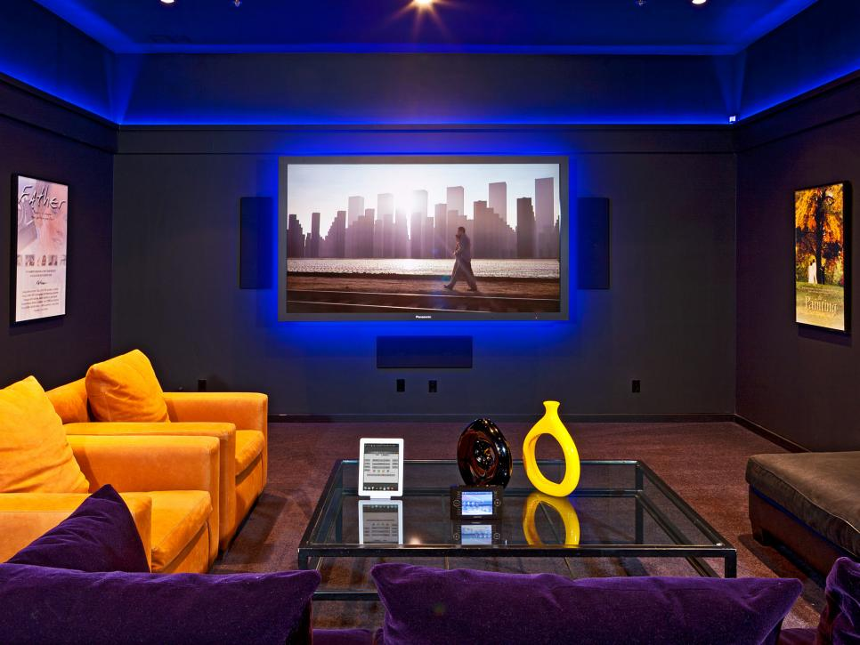 Designer home theaters media rooms inspirational Home theater colors