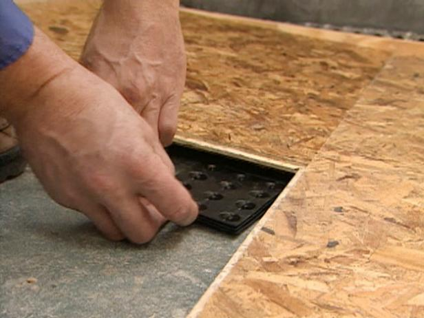 Subfloor Options For Basements HGTV - Install vinyl flooring over plywood subfloor