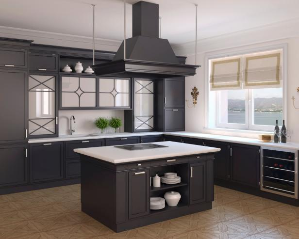 Open Black Kitchen