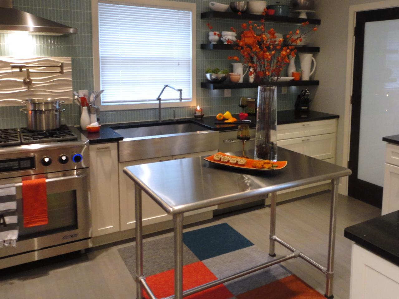 Stainless Steel Kitchen Islands | HGTV