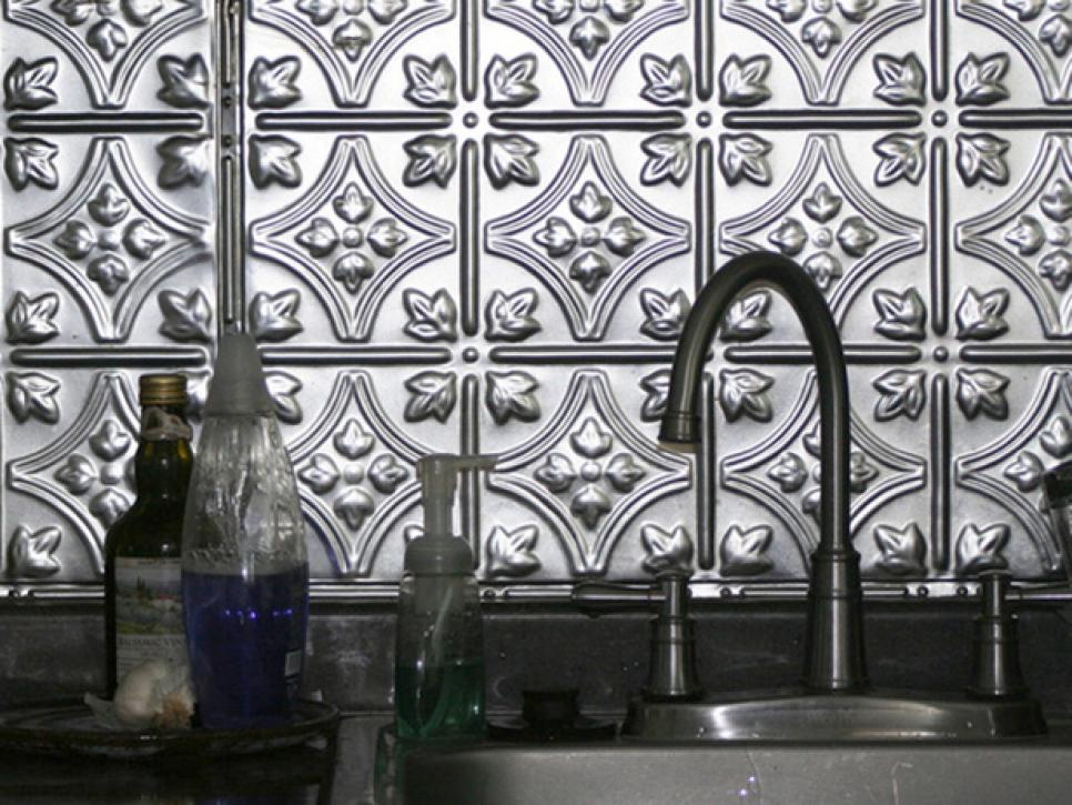 Metal Tile Backsplashes HGTV Magnificent Decorative Tin Backsplash Tiles