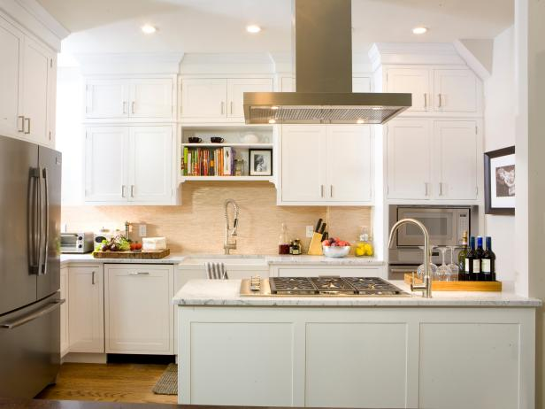 White Kitchen Cabinets & White Kitchen Cabinets: Pictures Options Tips u0026 Ideas | HGTV