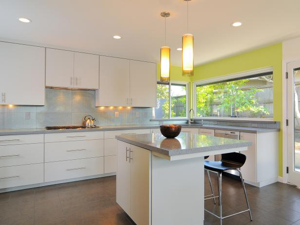 Great Modern White Kitchen Cabinets
