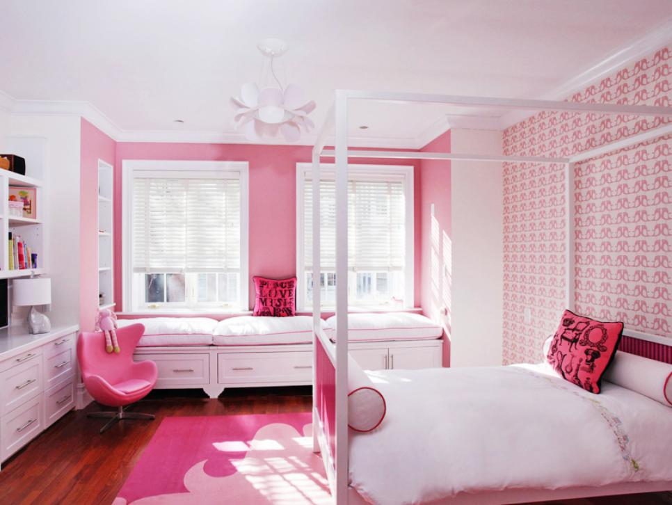 pink and white bedrooms pretty in pink rooms hgtv 16697