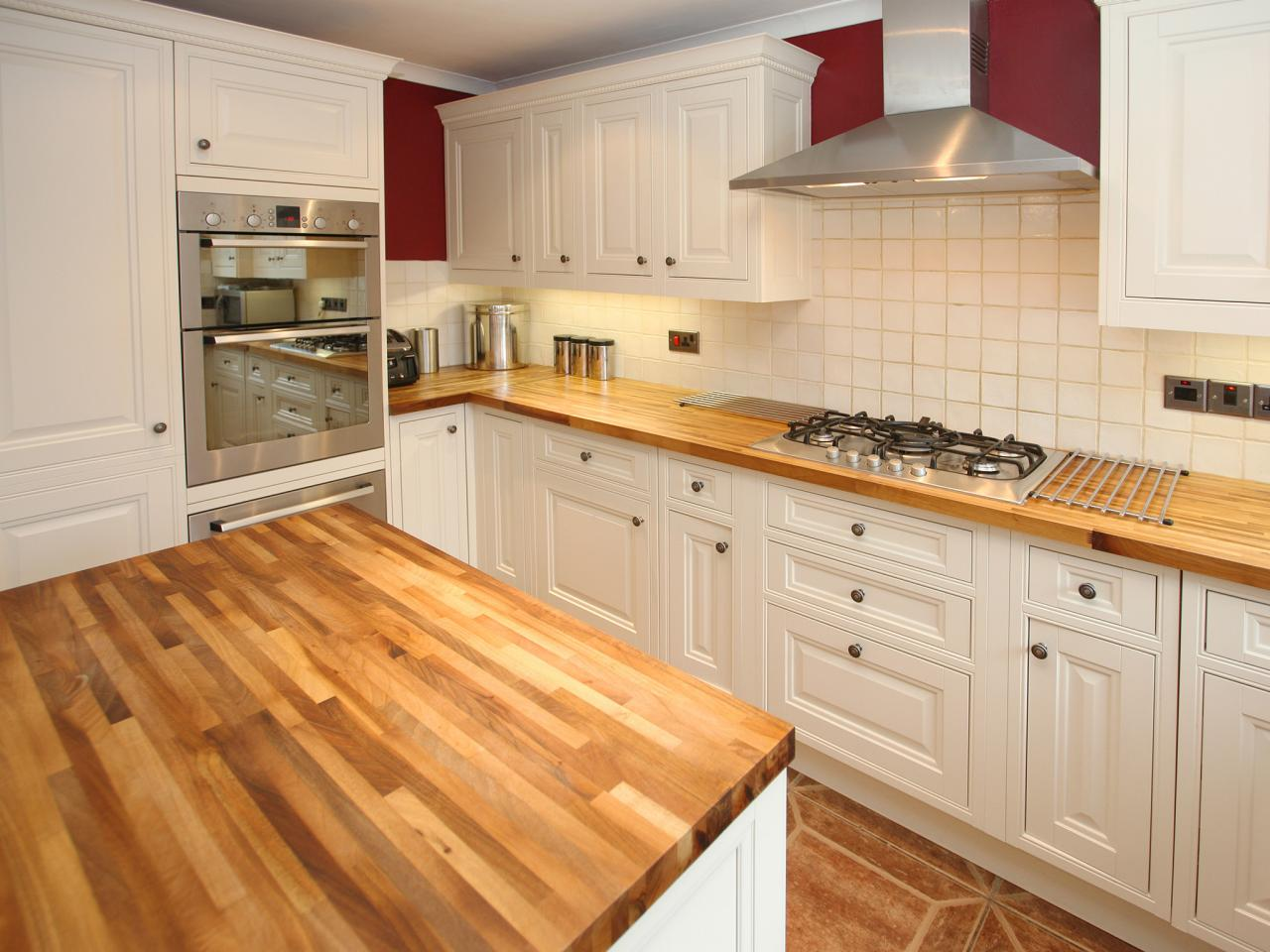 Wood kitchen countertops pictures ideas from hgtv hgtv for Armoire de cuisine rustique chic