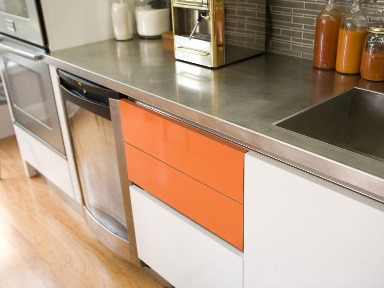 Orange Kitchens And Cabinets