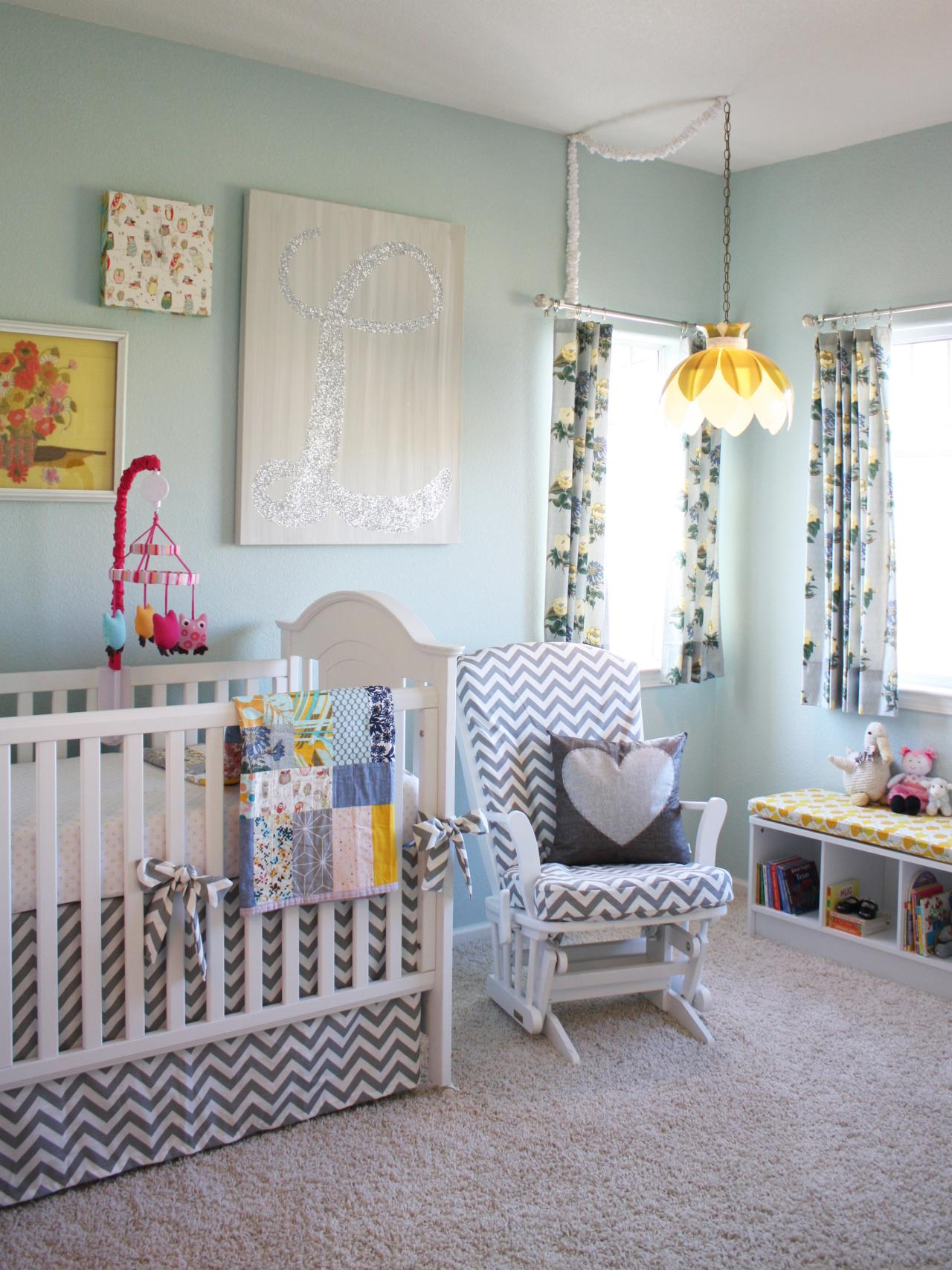 Lighting for kids 39 rooms hgtv for Girl nursery lighting