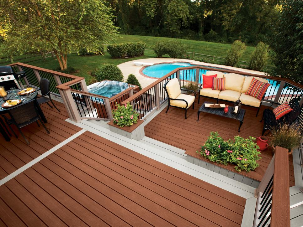 Tips For Designing A Pool Deck Or Patio HGTV Classy Backyard Deck Designs Plans Ideas