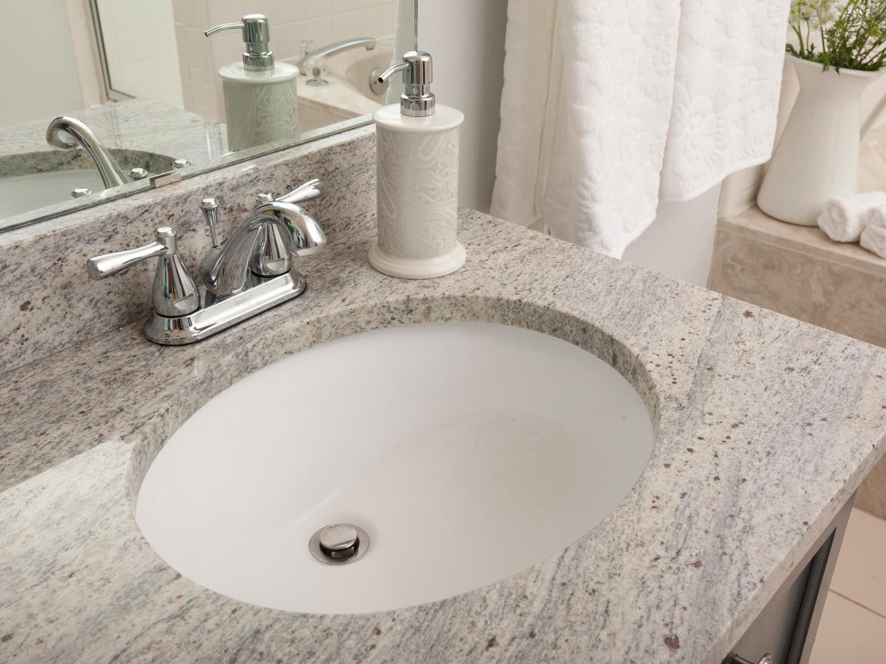 Undermount bathroom sinks hgtv for How much to install a bathroom vanity and sink