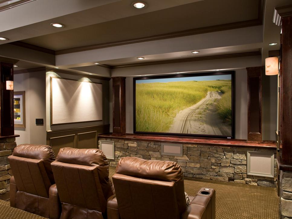 Rustic Retreat Home Theater Control Interface