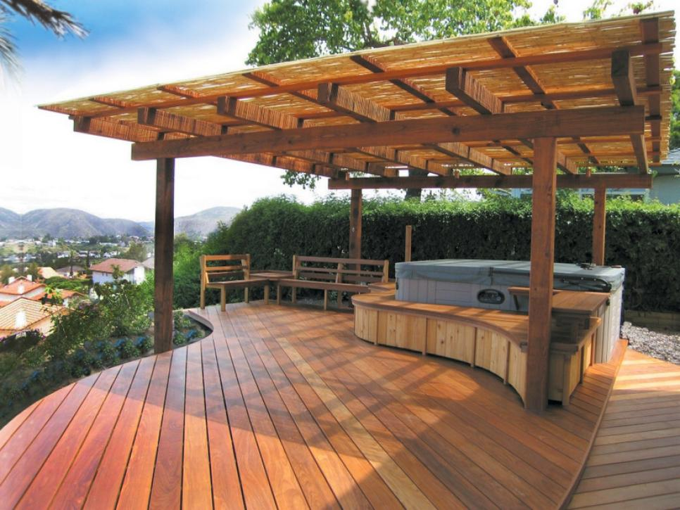 Gorgeous Decks and Patios With Hot Tubs | DIY on Patio With Deck Ideas id=86761