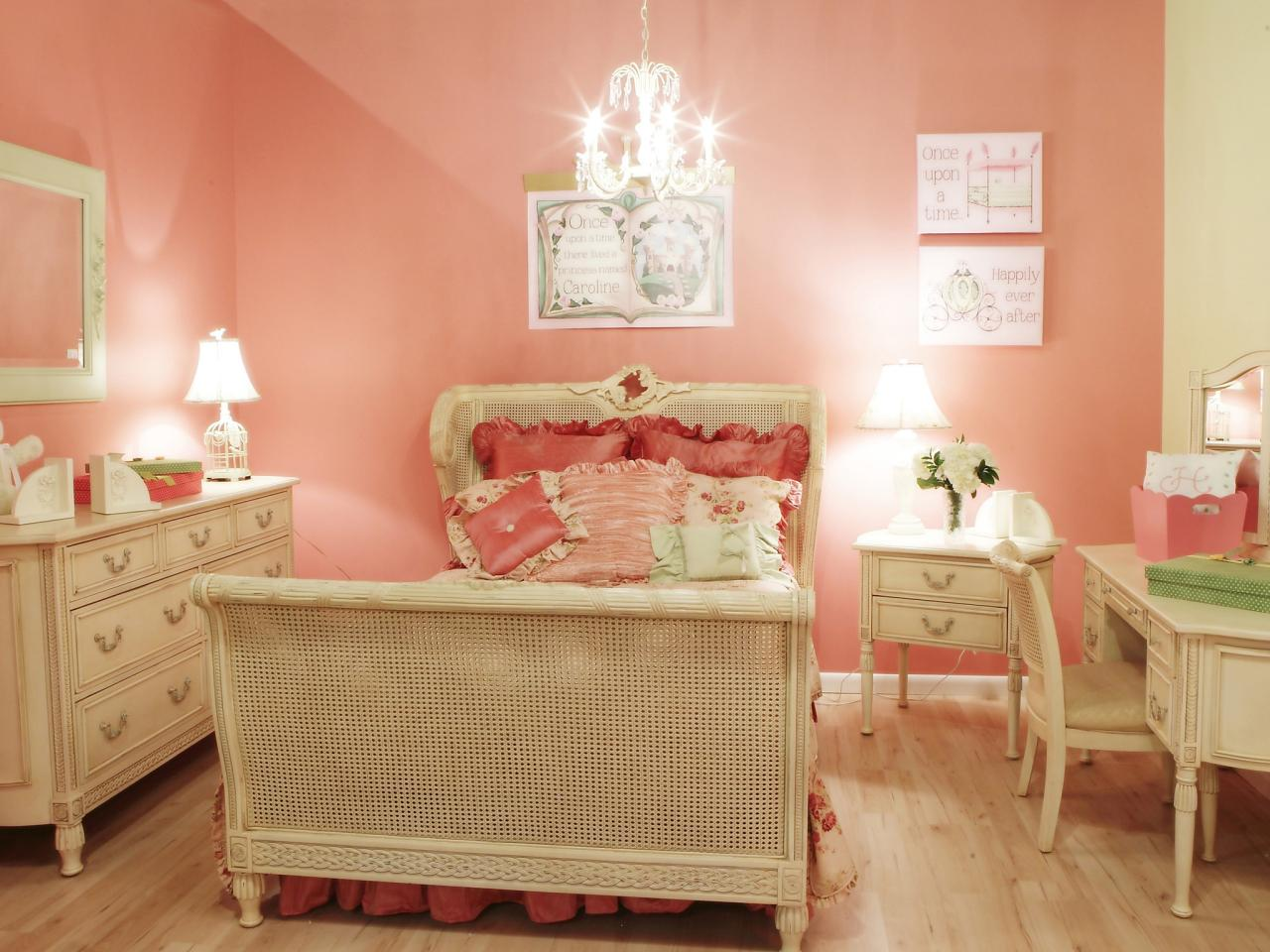 Girls Bedroom Color Schemes Pictures Options Ideas HGTV - Bedroom wall design ideas for teenagers