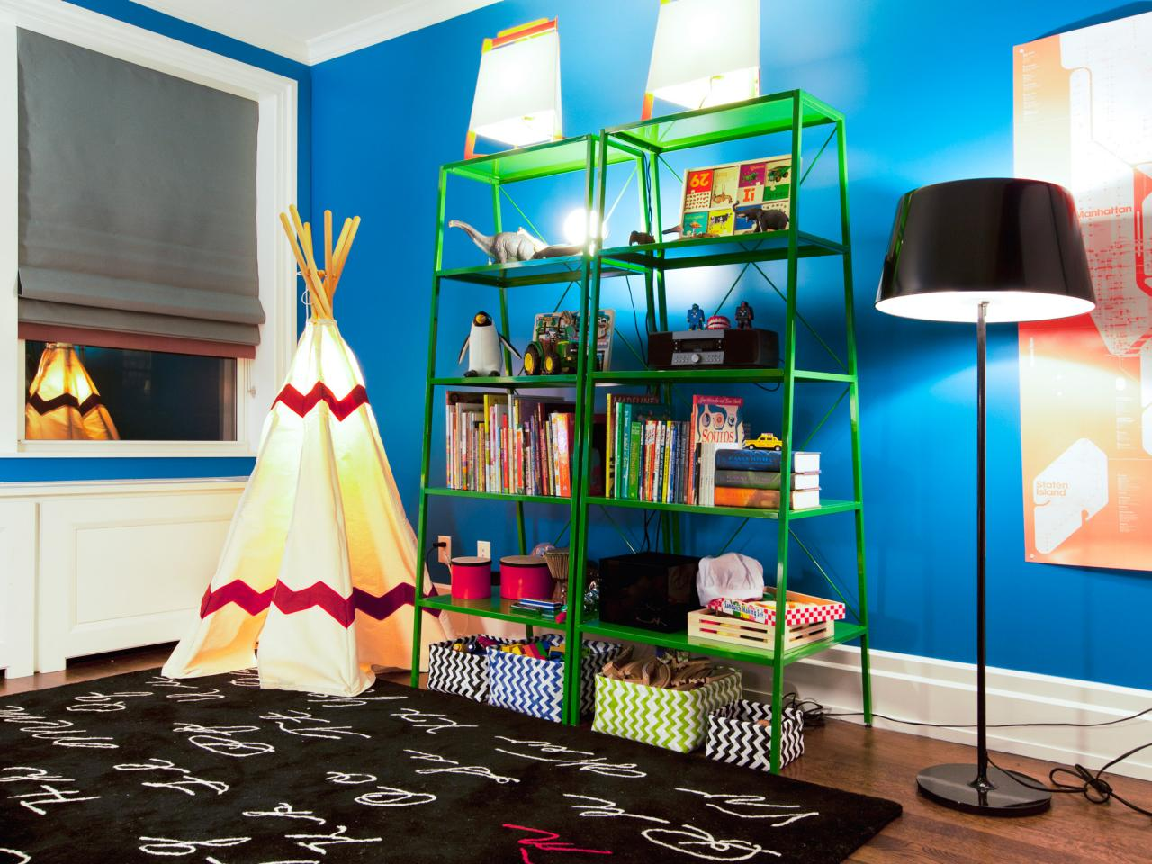 HHBN210_Blue Kids Room Teepee Bookshelf_s4x3