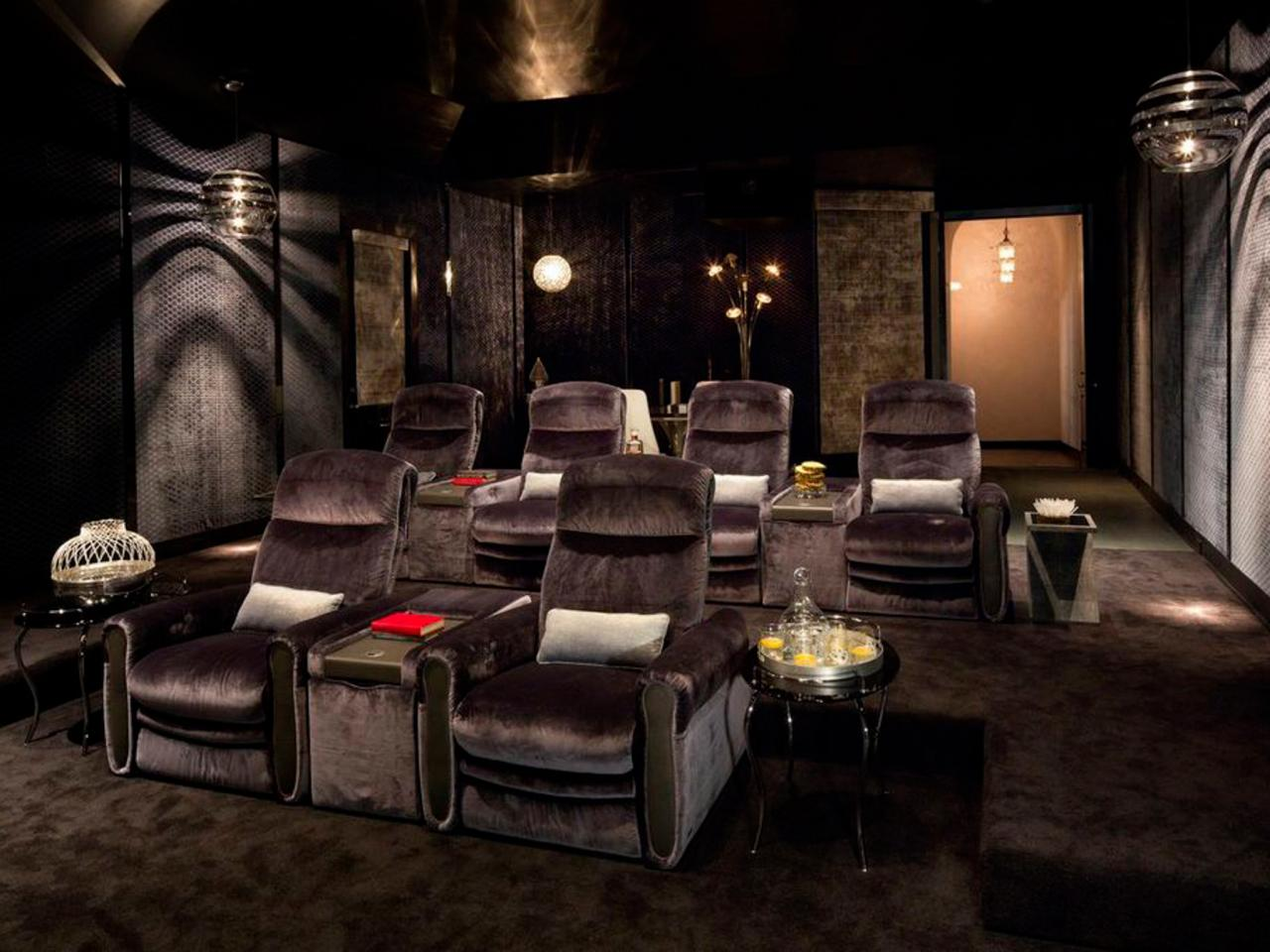 home theater decor pictures options tips ideas hgtv. Black Bedroom Furniture Sets. Home Design Ideas