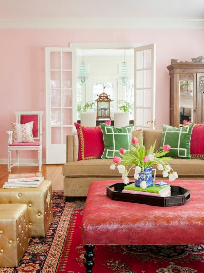 20 Pretty Pink Living Rooms Hgtv