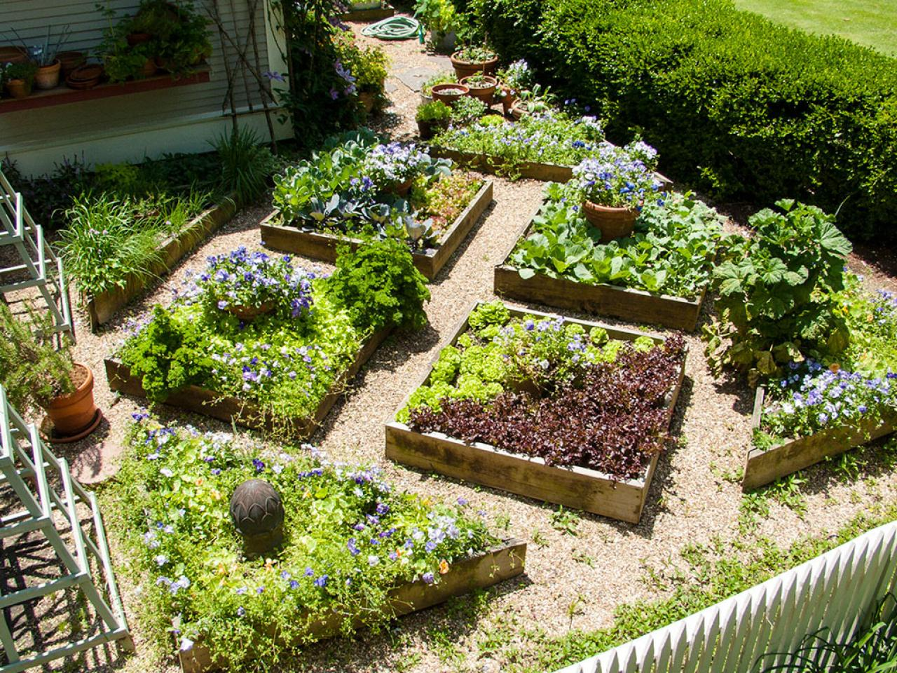 Amazing Vegetable Garden Planting Ideas Part - 6: Flowers And Food, So Healthy Together