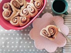 Homemade cinnamon rolls (in a heart shape, no less) really show your bae how much you care.