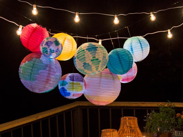 Diy Watercolor Paper Lanterns Hgtv S Decorating Amp Design