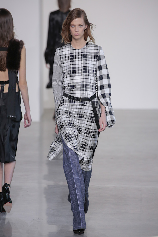 Fall 2016 Mixed Plaids by Calvin Klein