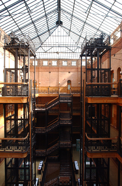 RX - Inside the Bradbury Building in downtown Los Angeles