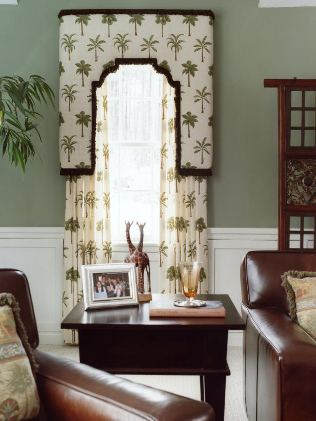 botanical accents are living room theme