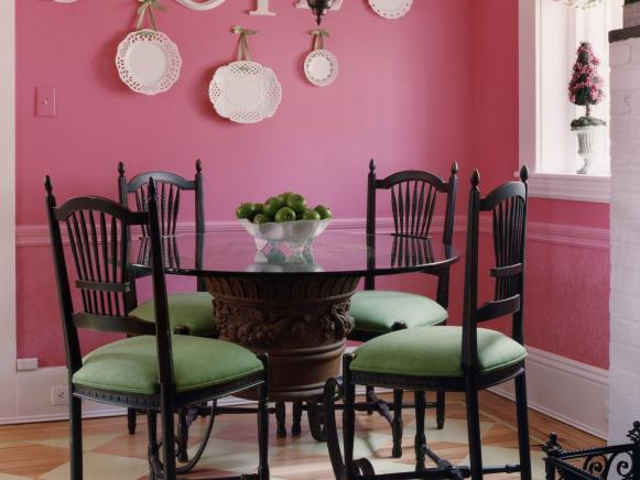 Pink Dining Nook with Country Touches