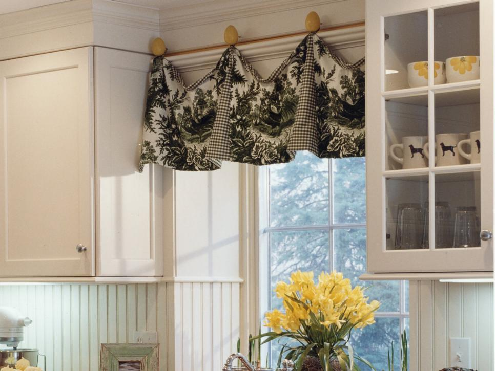 kitchen curtain valances ideas adding color and pattern with window valances hgtv 19406