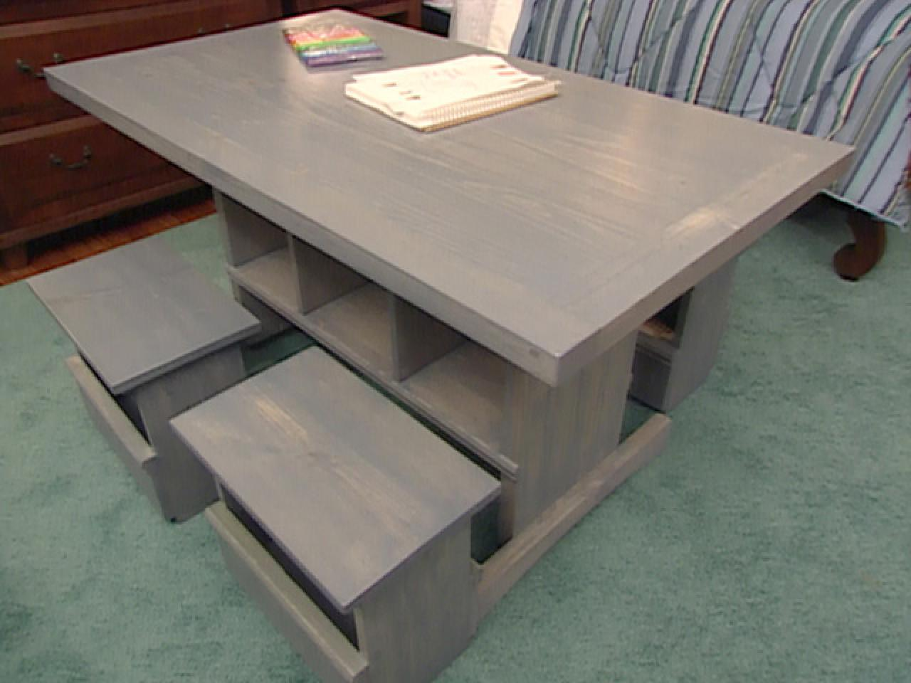 Stupendous How To Build Child Sized Table And Stools Hgtv Interior Design Ideas Philsoteloinfo