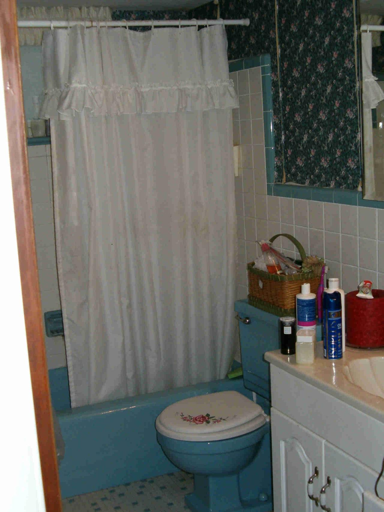 Ugly Bathroom: Blue and Busy