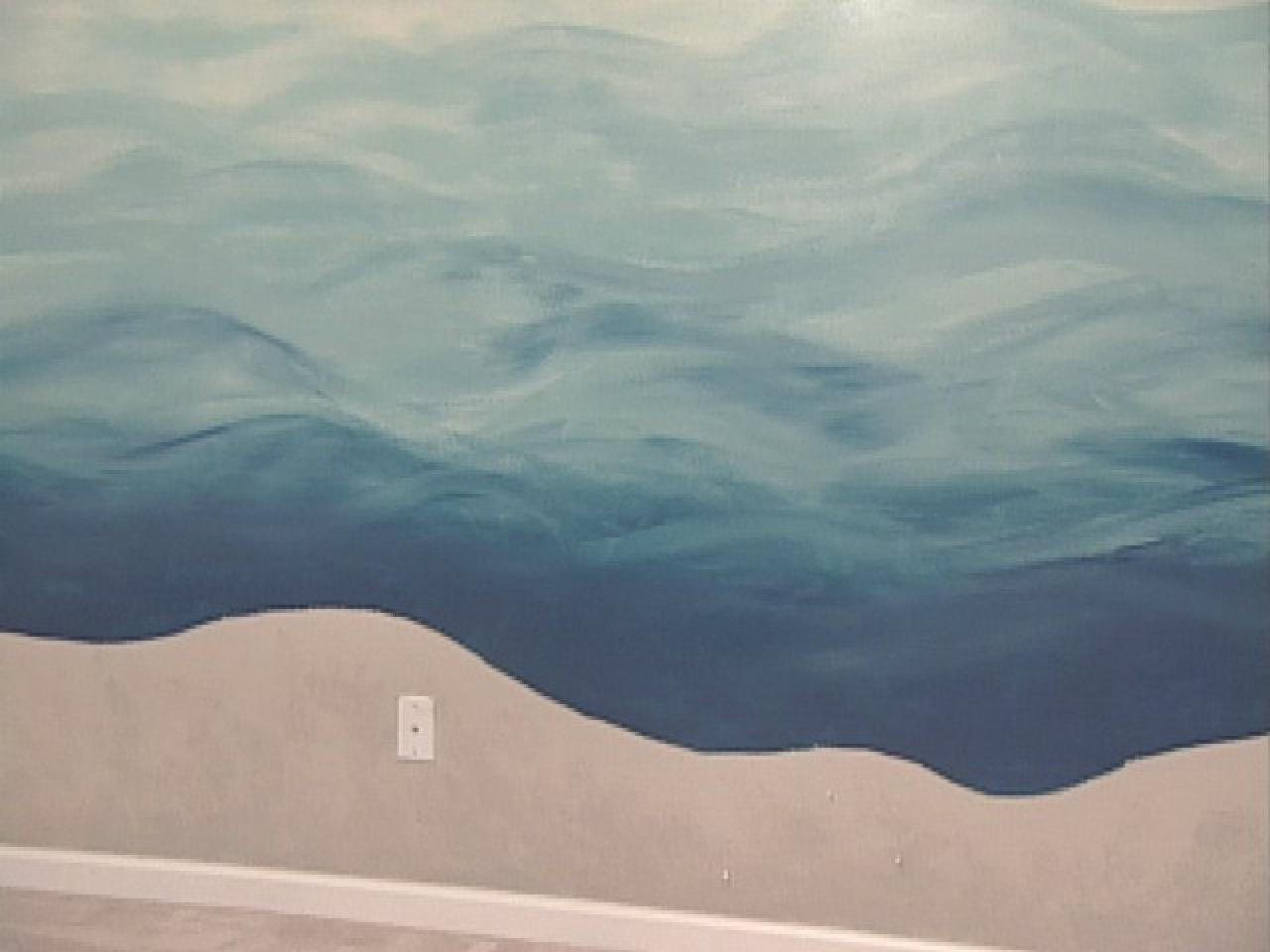 how to paint an underwater background hgtv