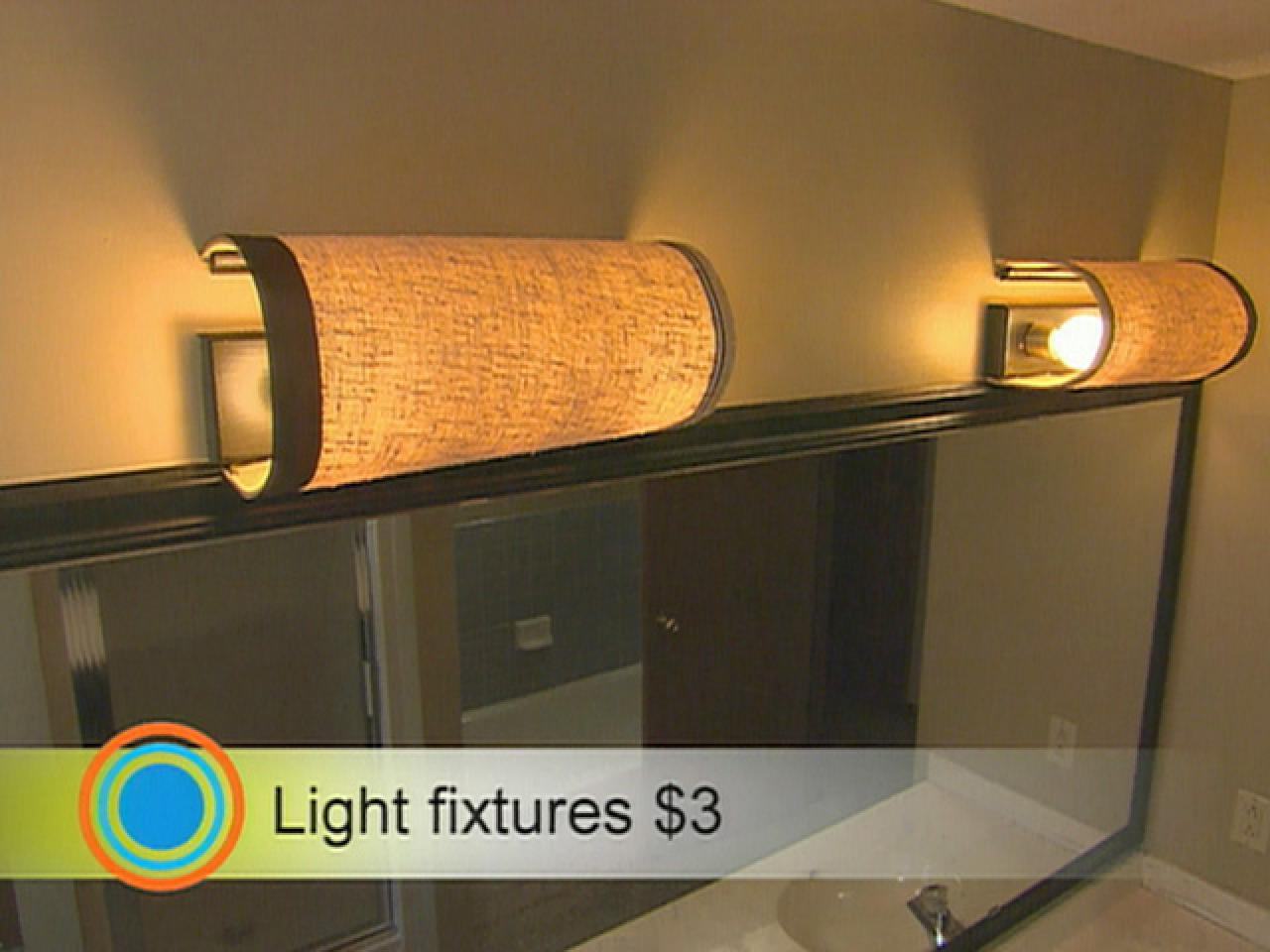 Spa Retreat Bathroom HGTV - Bathroom vanity lights with shades
