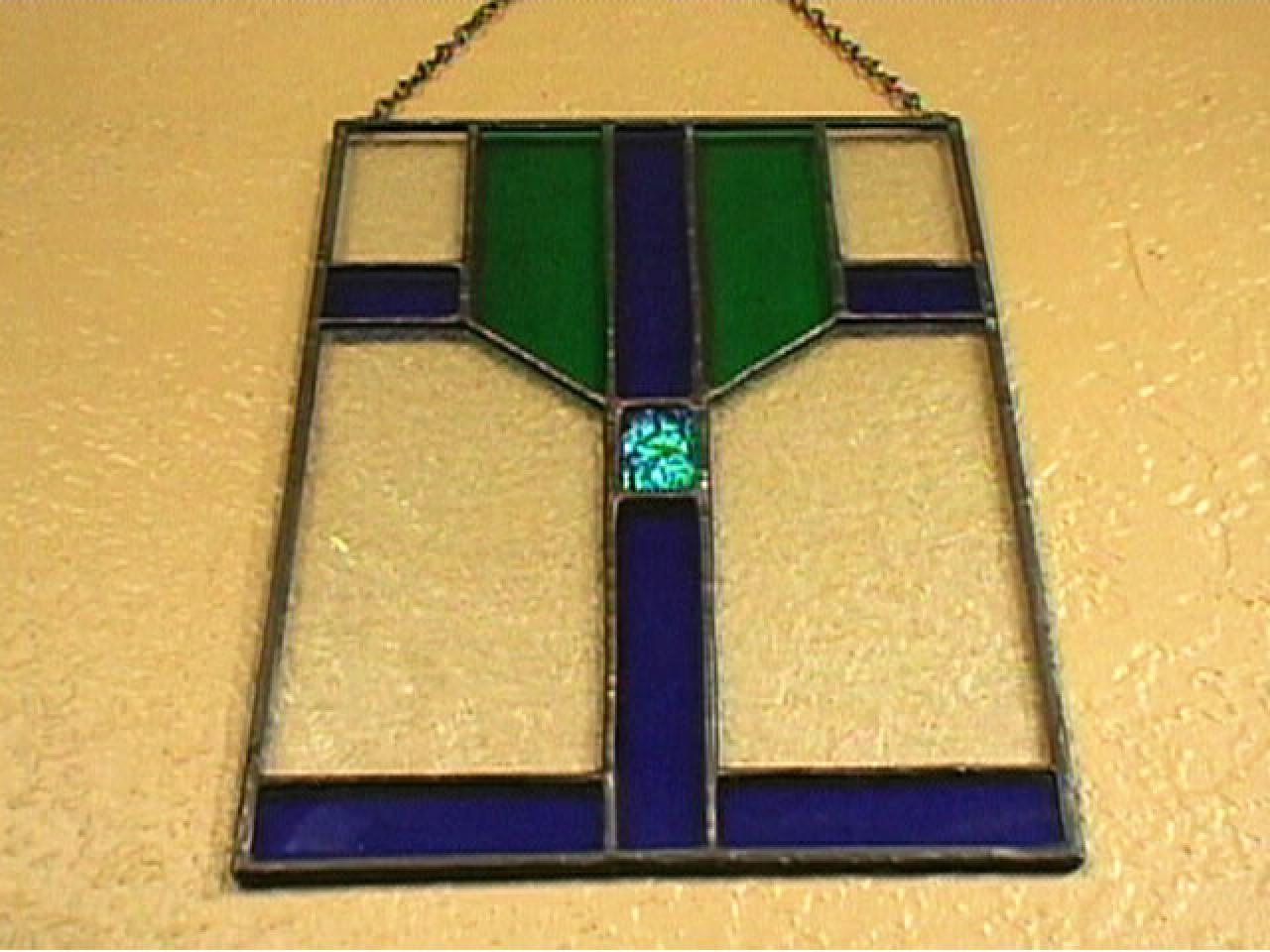Stained and Fused Glass Panel | HGTV