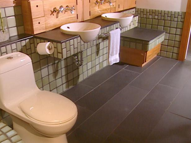 Recycled Master Bathroom Hgtv