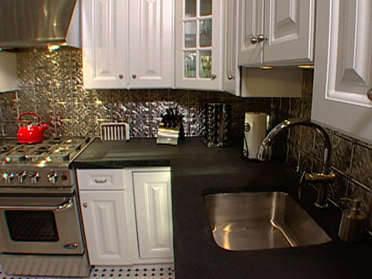 Backsplash Designs Decoration How to Install Ceiling Tiles as a Backsplash