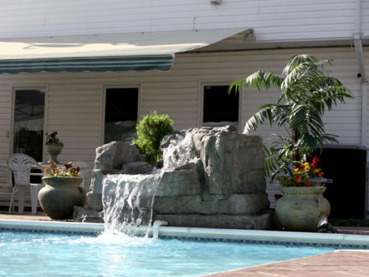 How To Install A Pool Waterfall Hgtv