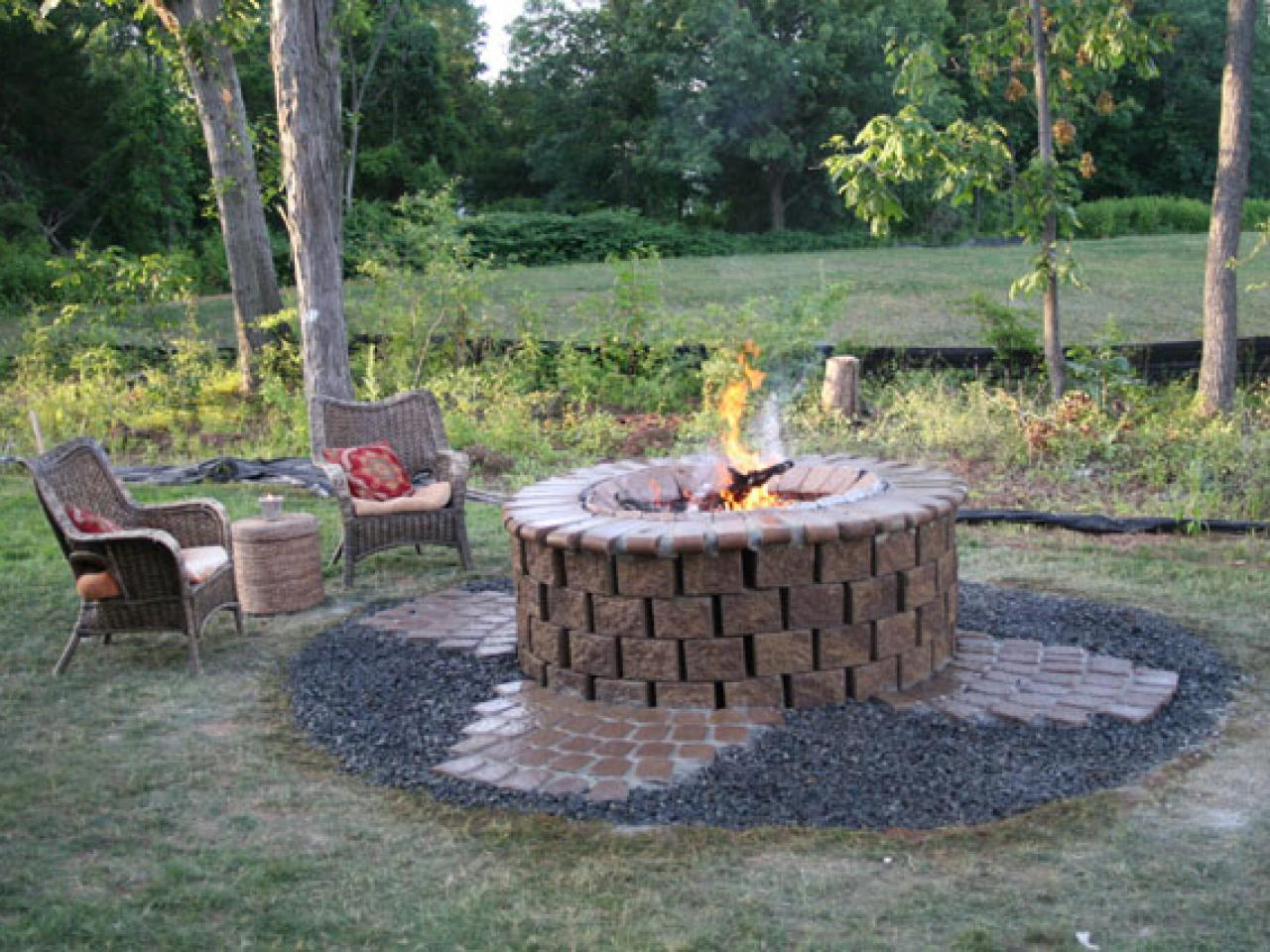 How to installing a fire pit hgtv for Buy outdoor fire pit