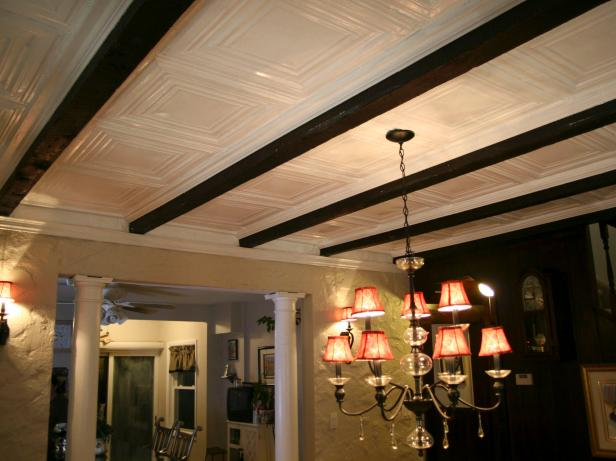 How To Installing Tin Ceiling Panels Hgtv