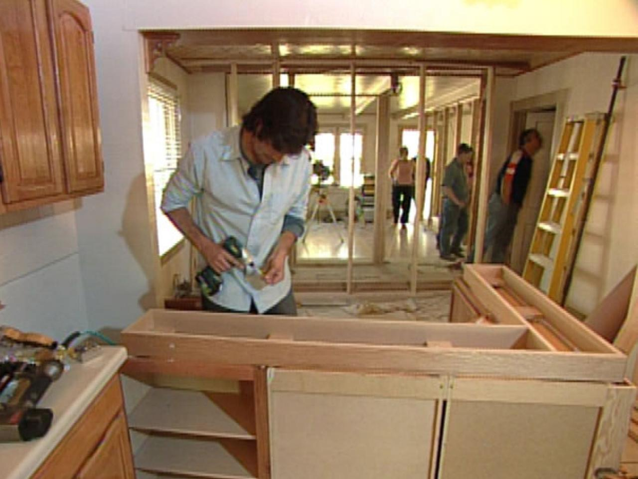 How to building a kitchen island with cabinets hgtv How do you design a kitchen