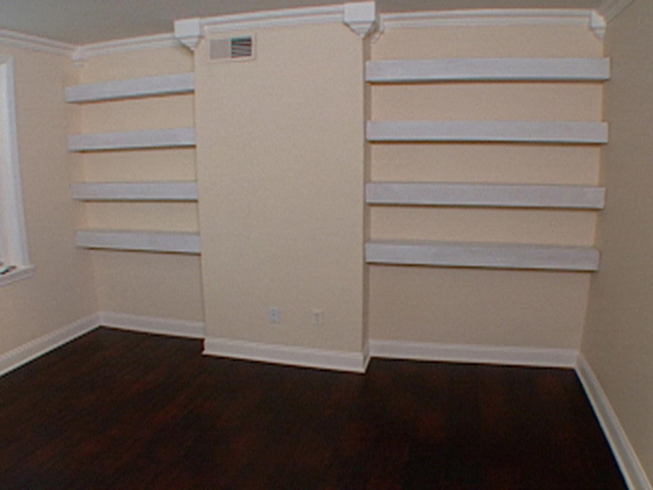 Updating Your Home Install Floating Shelves Hgtv