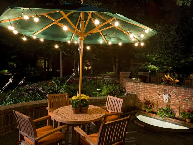 Inexpensive Party Lights Give Patio a Festive Feel & 10 Ways to Amp Up Your Outdoor Space With String Lights | HGTVu0027s ...
