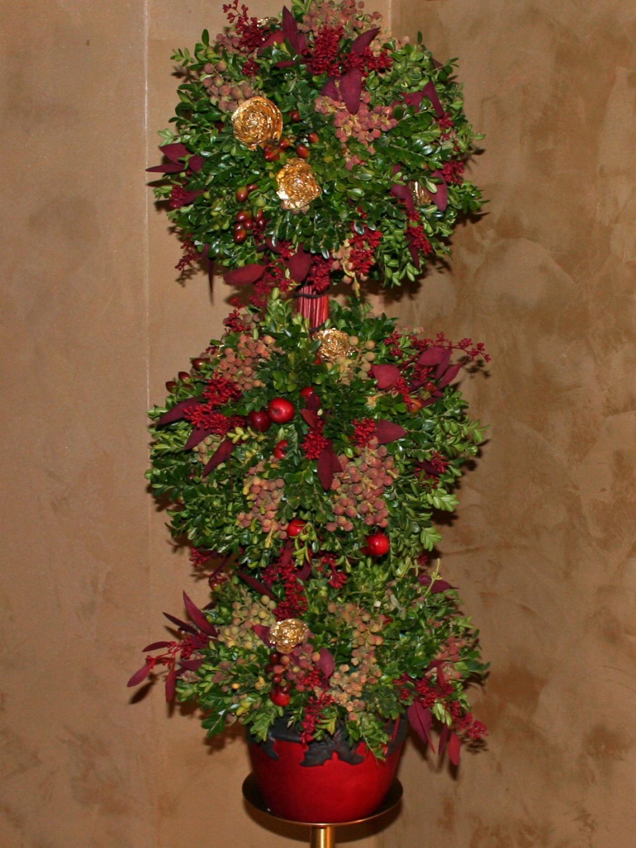 Christmas Topiary Decor.European Old World Topiary Hgtv