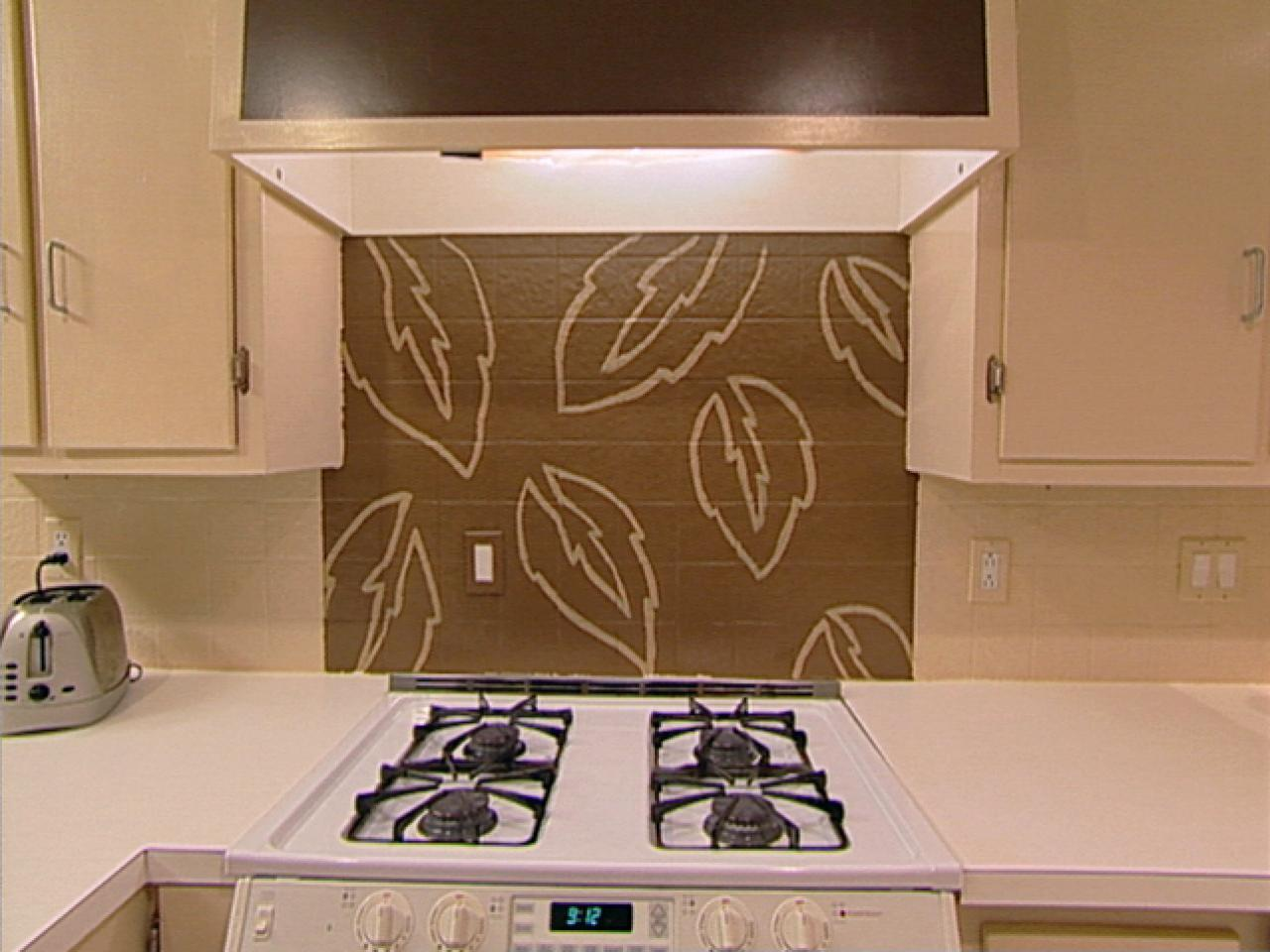 painted kitchen backsplash designs handpaint a kitchen backsplash hgtv 3976
