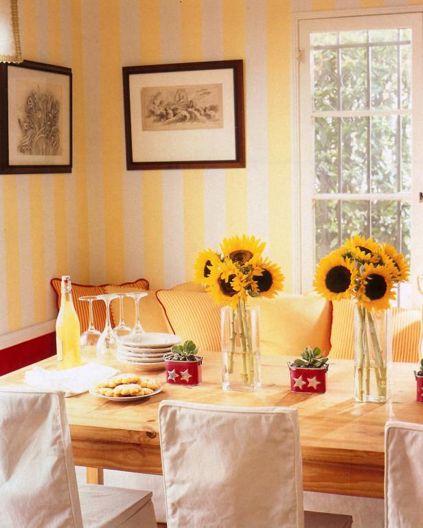 Yellow Country Dining Room