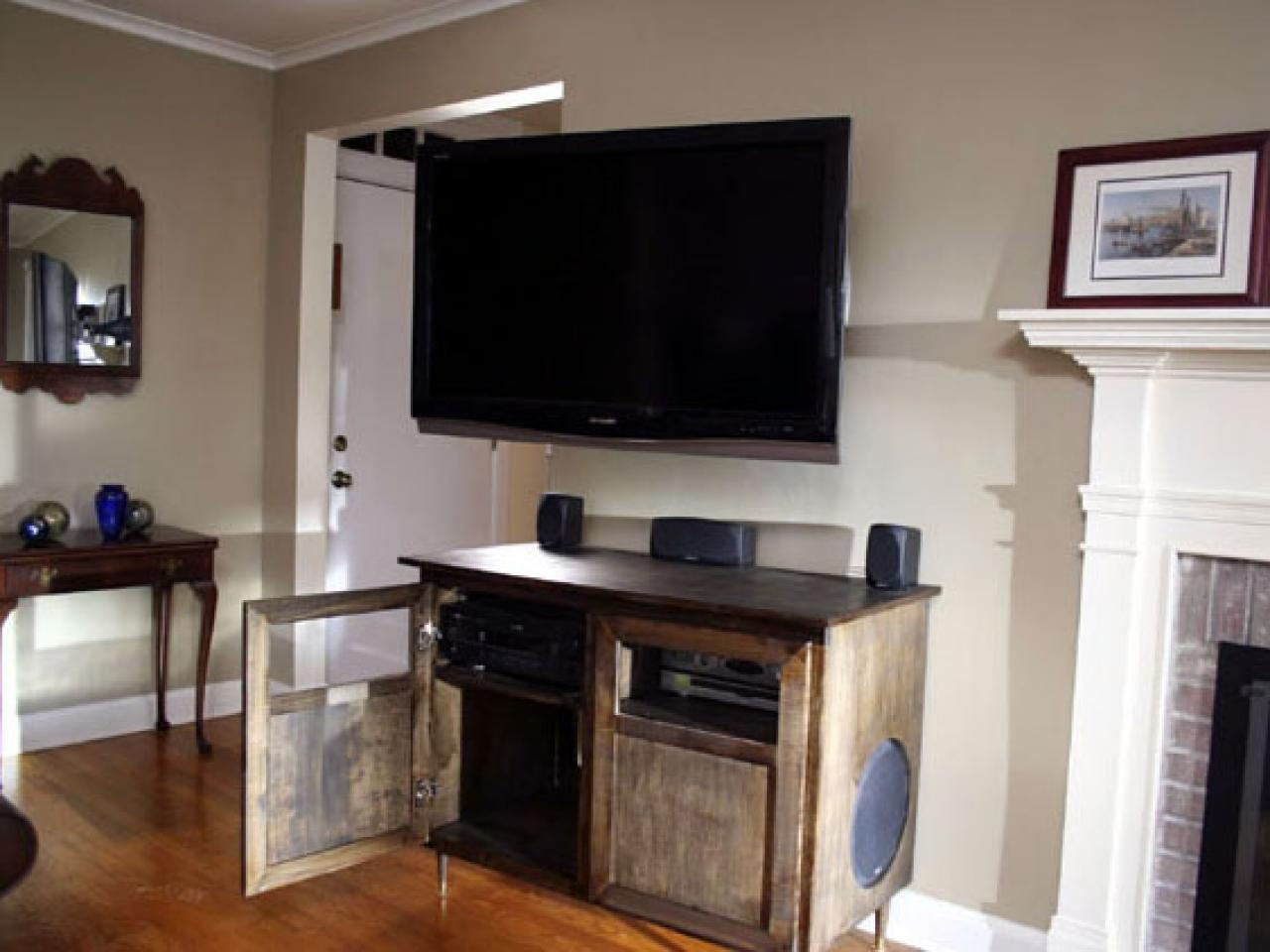 A Modern Flat Screen Tv And Entertainment Center Solution Hgtv