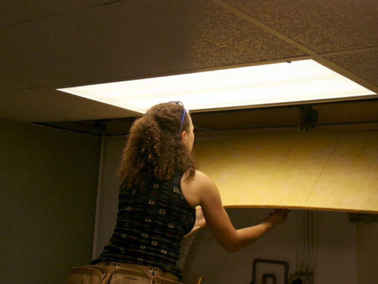 Installing a drop ceiling in a basement laundry hgtv dailygadgetfo Image collections