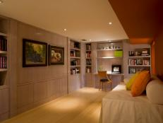 Contemporary Home Office And Guest Bedroom