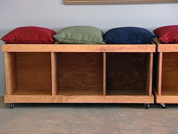 How To Build A Rolling Storage Bench Hgtv
