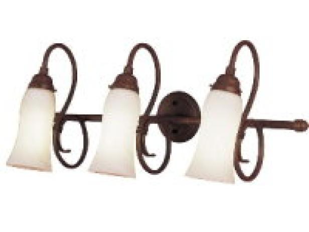 Stylish energy efficient bathroom lighting hgtv stylishenergyefficientbathrk2 aloadofball